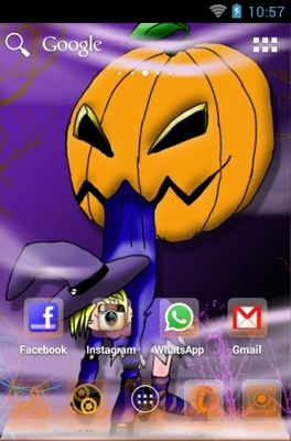 Halloween android theme home screen