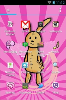 Bunny android theme application menu
