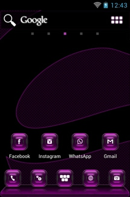 Kosmic android theme home screen
