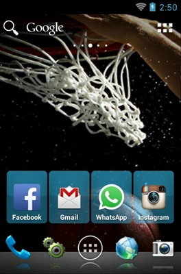 Hoops android theme home screen