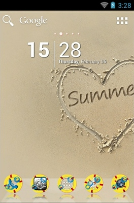 android theme 'Summer Sand'