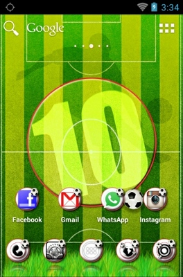 Football android theme home screen