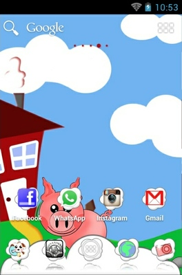 Happy Farm android theme home screen