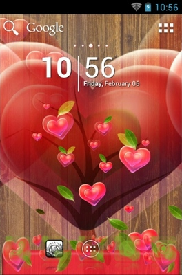 android theme 'Fabulous Hearts'