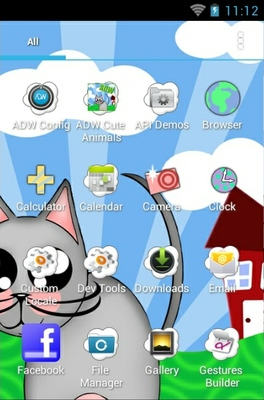 Cute Animals android theme application menu