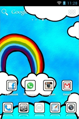 Beautiful Cloud android theme home screen