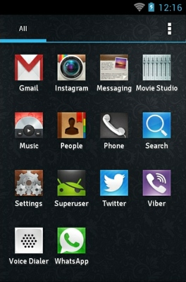 RectaN android theme application menu