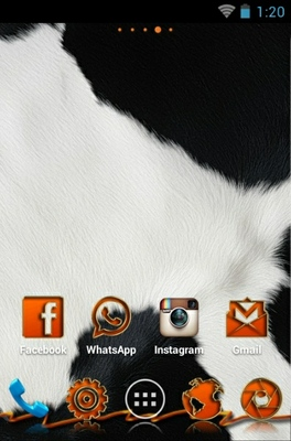 Animalier  android theme home screen