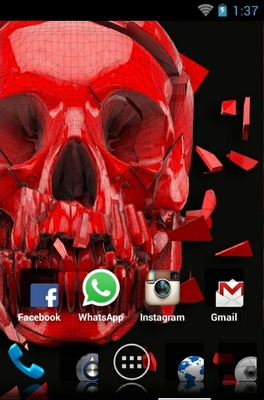 Skull android theme home screen