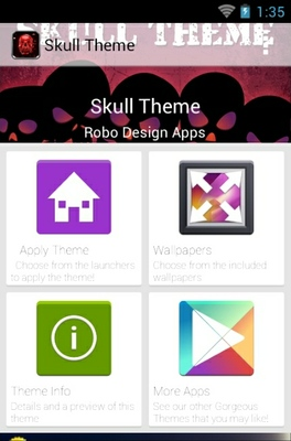 Skull android theme