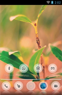 Nature android theme home screen