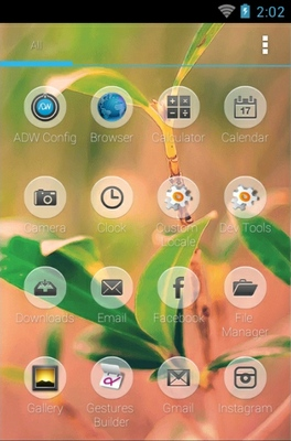 Nature android theme application menu