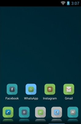 Shady Flat android theme home screen