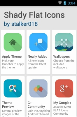 Shady Flat android theme