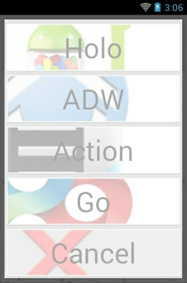 Shady Flat android theme launcher menu