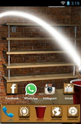 Beer Pong Tricks android theme home screen