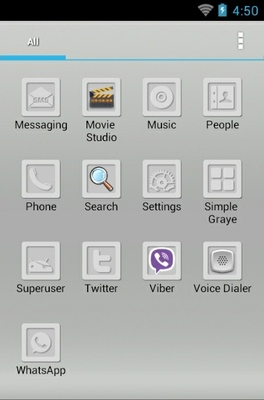 Simple Gray android theme application menu