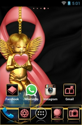 Breast Cancer Care android theme home screen