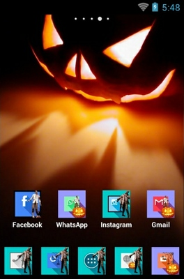 Hallowen android theme home screen