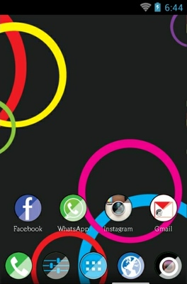 Colors Reborn android theme home screen