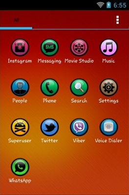 Gems android theme application menu