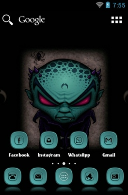 Dracula android theme home screen