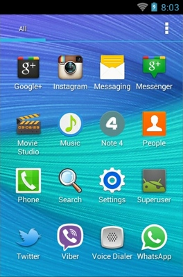 N4  android theme application menu