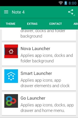 N4  android theme launcher menu