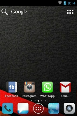 AF Slab android theme home screen