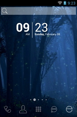 android theme 'Rain Night'