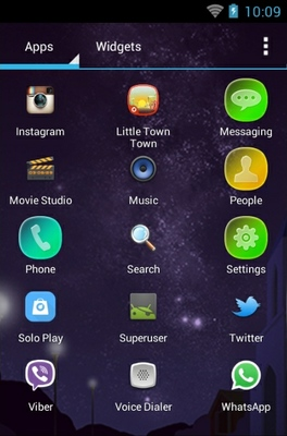 Little Town  android theme application menu