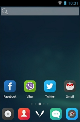 Locker Master android theme home screen