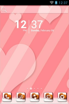 android theme 'Sweet Trip'