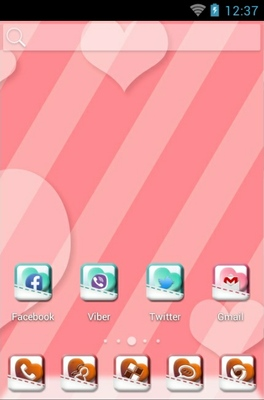 Sweet Trip android theme home screen