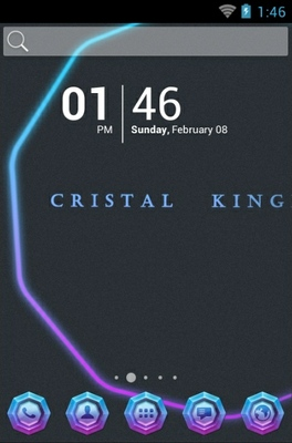 android theme 'Crystal Kingdom'