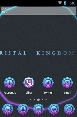 Crystal Kingdom android theme home screen