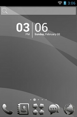 android theme 'Black Silver'