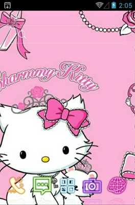 android theme 'Charmmy Kitty'