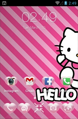 Kitty android theme home screen