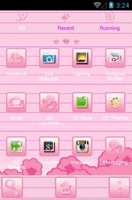 Hello Kitty Pink android theme application menu