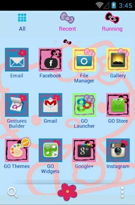 Hello Kitty android theme application menu