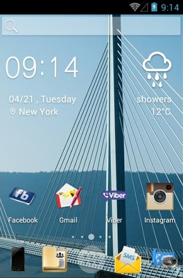 Bridges android theme home screen