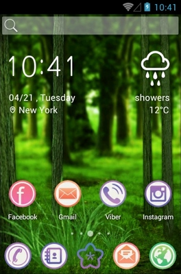 Forest android theme home screen