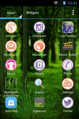 Forest android theme application menu