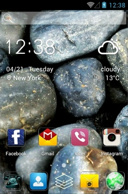 Stones android theme home screen
