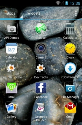 Stones android theme application menu