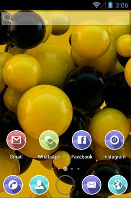 Balls android theme home screen