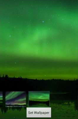Northern Lights android theme wallpaper