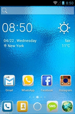 Bright Entity android theme home screen