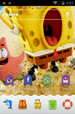 Spongebob 3D android theme home screen
